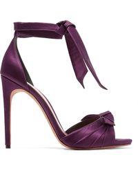 Alexandre Birman - Jessica Bow-embellished Satin Sandals - Lyst