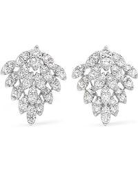 Anita Ko Snowflake 18-karat White Gold Diamond Earrings - Metallic