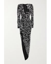 Alexandre Vauthier Gathered Crystal-embellished Stretch-jersey Gown - Metallic