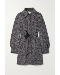 Diane von Furstenberg Manon Belted Leopard-print Cotton And Wool-blend Coat - Multicolour
