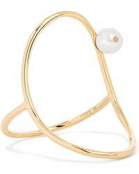 Anissa Kermiche - Oval 14-karat Gold Pearl Ring - Lyst