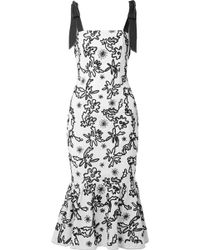 Rachel Zoe - Lily Embroidered Cotton-gauze Midi Dress - Lyst