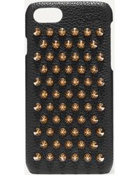 Christian Louboutin - Loubiphone Embellished Textured-leather Iphone 7 And 8 Case - Lyst
