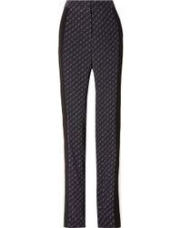 Stella McCartney - Printed Silk Crepe De Chine Straight-leg Trousers - Lyst