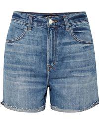 J Brand - Joan Distressed Denim Shorts - Lyst