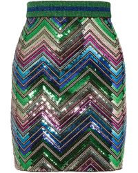 Gucci - Sequined Stretch-knit Mini Skirt - Lyst