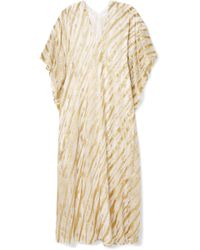 Marie France Van Damme - Ivy Boubou Metallic Striped Silk-blend Jacquard Kaftan - Lyst