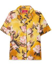 F.R.S For Restless Sleepers - Bendis Floral-print Satin-twill Shirt - Lyst