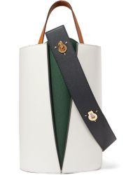 Danse Lente - Lorna Mini Panelled Leather Bucket Bag - Lyst