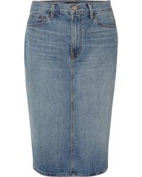 J Brand - Denim Midi Skirt - Lyst