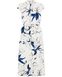 Erdem Finn Floral-print Crepe Midi Dress - White