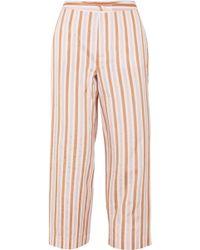 FRAME - Striped Jacquard Wide-leg Trousers - Lyst