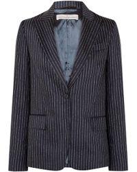Golden Goose Deluxe Brand - Venice Pinstriped Wool And Silk-blend Blazer - Lyst