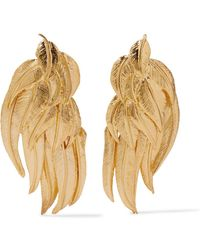 Aurelie Bidermann - Elvira Gold-plated Clip Earrings - Lyst