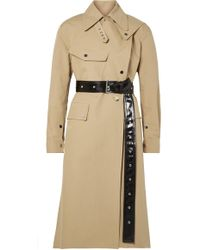 Helmut Lang - Belted Cotton-canvas Trench Coat - Lyst