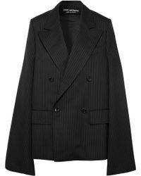 Junya Watanabe - Oversized Cape-effect Pinstriped Wool-blend Blazer - Lyst
