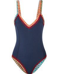 KIINI - Tasmin Crochet-trimmed Swimsuit - Lyst