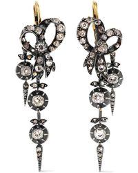 Fred Leighton - Victorian Gold Diamond Earrings - Lyst