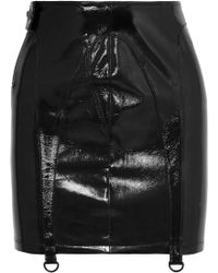 RTA - Zander Patent-leather Mini Skirt - Lyst