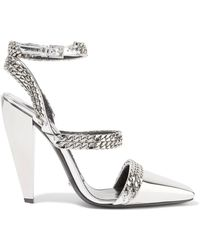 Tom Ford - Chain-embellished Mirrored-leather Court Shoes - Lyst