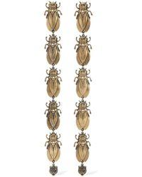 Gucci - Gold-tone, Faux Pearl And Enamel Earrings - Lyst
