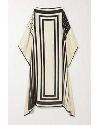 Louisa Parris + Net Sustain Lucas Printed Silk-twill Maxi Dress - Natural