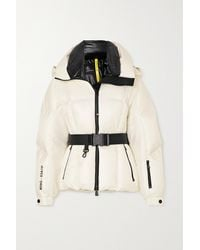 Moncler Genius Grossaix Belted Printed Quilted Down Ski Jacket - White
