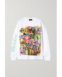 we11done Oversized Printed Appliquéd Cotton-jersey T-shirt - White