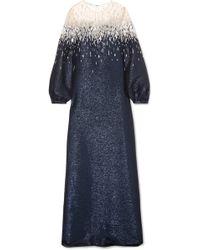 Oscar de la Renta - Embellished Lurex And Tulle Gown - Lyst