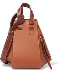 Loewe - Hammock Small Textured-leather Shoulder Bag - Lyst