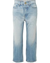 The Great - The Railroad Cropped Distressed Boyfriend Jeans - Lyst