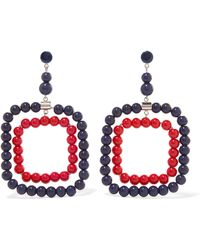 Marni | Silver-tone Beaded Earrings | Lyst