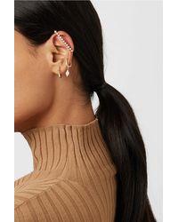 Diane Kordas Pop Art 18-karat Rose Gold Diamond Earring - Multicolour