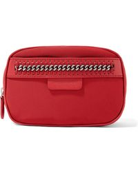 Stella McCartney - The Falabella Chain And Faux Leather-trimmed Shell Cosmetics Case - Lyst