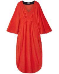Splendid - + Margherita Capri Cotton And Modal-blend Terry Dress - Lyst