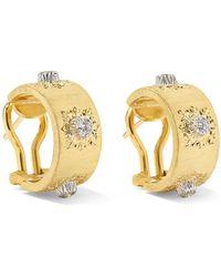 Buccellati - Macri Classica 18-karat Gold Diamond Hoop Earrings - Lyst