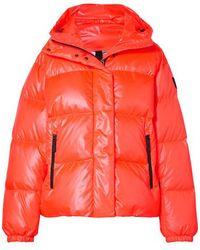 Bogner Fire + Ice Ranja Verkürzte Oversized-skijacke Aus Gestepptem Shell Mit Daunenfüllung Und Kapuze - Orange