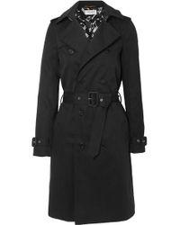 Saint Laurent Trench-coat En Gabardine - Noir