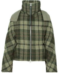 JW Anderson - Hooded Checked Wool Down Jacket - Lyst