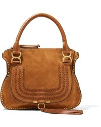 Chloé - The Marcie Medium Suede Tote - Lyst