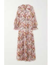 Needle & Thread + Jasmine Hemsley Harmony Sequin-embellished Floral-print Tulle Gown - Pink