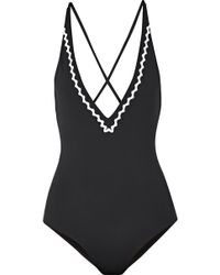 Marysia Swim - Tuscany Rickrack-trimmed Halterneck Swimsuit - Lyst