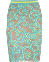 Sibling - Printed Stretch Cotton-blend Skirt - Lyst
