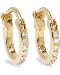 Ileana Makri - 18-karat Gold Diamond Hoop Earrings Gold One Size - Lyst