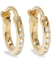 Ileana Makri - 18-karat Gold Diamond Hoop Earrings - Lyst