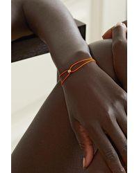 Octavia Elizabeth + Net Sustain Parachute Nesting Gem Armband Aus Kordel Mit Detail Aus Recyceltem 18 Karat Gold Und Diamant - Orange
