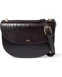 A.P.C. - Genève Croc-effect Leather Shoulder Bag - Lyst