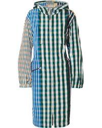 Marni - Gingham Shell Hooded Coat - Lyst