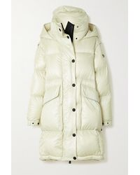 3 MONCLER GRENOBLE Entreves Oversized Convertible Hooded Quilted Glossed-shell Down Coat - Natural