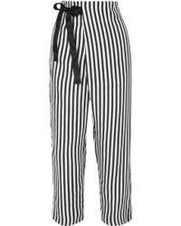 J.Crew - Okinawa Striped Wide-leg Silk-twill Wrap Pants - Lyst